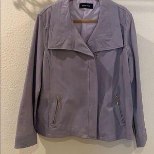 Elena Miro Leather Moto Jacket - Size 16 NWOT